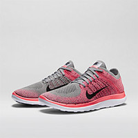 The Nike Free 4.0 Flyknit Women's Running Shoe.
