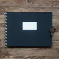 Large Navy Scrapbook