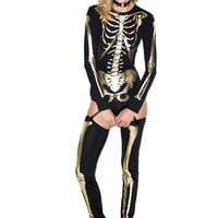 Forplay Skin n' Bones Costume Black