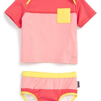 Patagonia 'Little Sol' Two-Piece Rashguard Swimsuit (Baby Girls) | Nordstrom