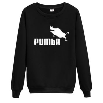 """""""PUMBA""""Fashion Hip-hop personality trend hip hop into round collar Sweater"""
