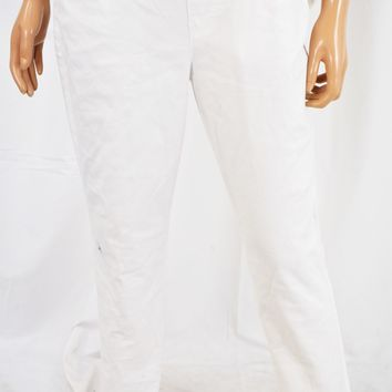 Style&Co Women White Pull-On Mid Rise Skinny Ankle Denim Jeans  S