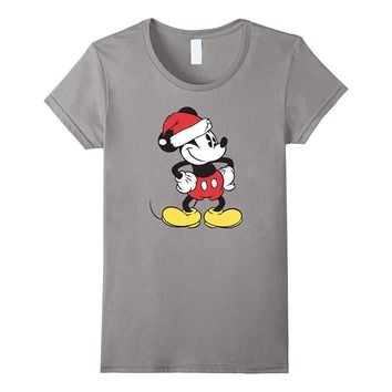 Disney Santa Clause Mickey Mouse Christmas T Shirt