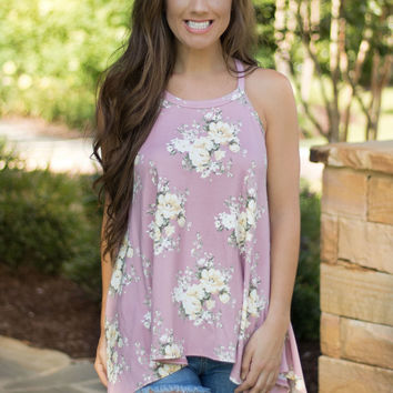 Passionate Pink Floral Tank