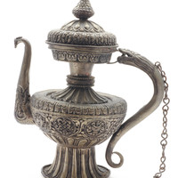Nepalese Vintage Teapot With Intricate Details