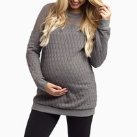 Charcoal-Mesh-Top-Quilted-Maternity-Top