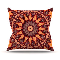 "Iris Lehnhardt ""Colors of Africa"" Brown Orange Outdoor Throw Pillow"