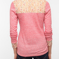 Urban Outfitters - Pins and Needles Lace Inset Henley Thermal