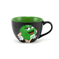 M&M's World Green Character Cappuccino Mug New