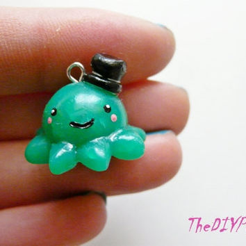 Kawaii Octopus Charm- Polymer Clay