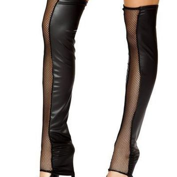 Black Fishnet Leg Warmer