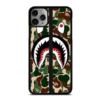 BAPE SHARK CAMO ZIP iPhone Case Cover