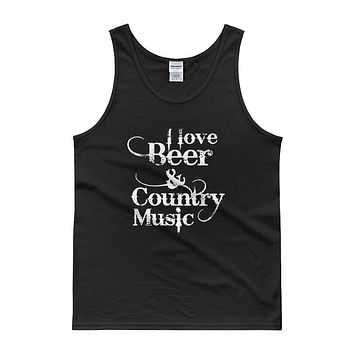 I love Beer & Country Music Tank Top