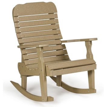Leisure Lawns Amish Made Recycled Plastic Easy Rocker Chair Model # 325 - Ships FREE within 2 to 3 Weeks