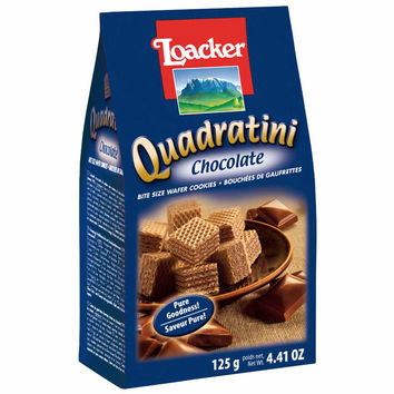 Quadratini Chocolate Wafer Cookies by Loacker 8.8 oz
