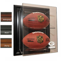 Green Bay Packers NFL Case-Up Football Display Case (Mahogany)