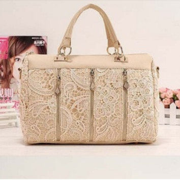 Autumn Korean Stylish Casual Lace One Shoulder Bags [6581996103]
