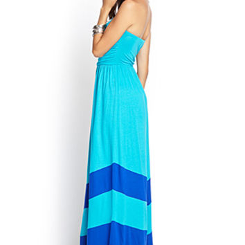 FOREVER 21 Colorblocked Maxi Dress