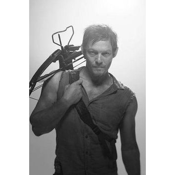 "Norman Reedus Poster Black and White Mini Poster 11""x17"""