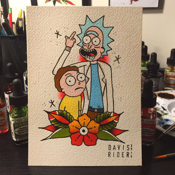 Rick & Morty ORIGINAL Painting