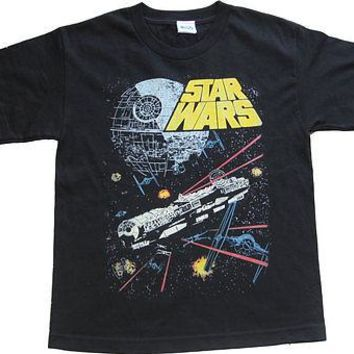Star Wars Battle Scene Movie X Large Youth T Shirt