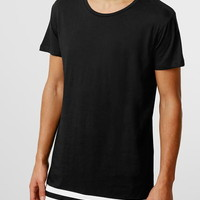 Selected Homme Black Stripe T-shirt - New This Week - New In