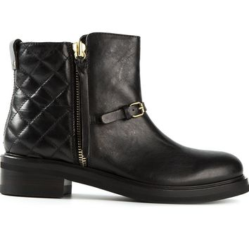 Buttero rear quilted biker style boots