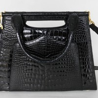 "Lana Marks ""The Good Croc"" 3 in 1 Alligator Bag"
