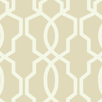 Hourglass Trellis Wallpaper in Beige design by York Wallcoverings