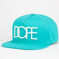 Dope Rubber Logo Mens Snapback Hat Teal Blue One Size For Men 25321924601
