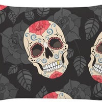 Smiling Sugar Skull Pillow Case