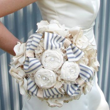 Bridal Bouquet vintage wedding country wedding cotton by AutumnArt
