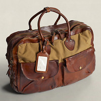 Canvas & Leather Cargo Bag