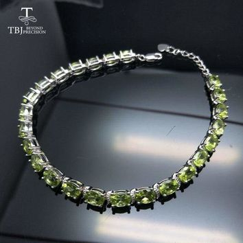 Simple and Classic 12ct Peridot Gemstone Bracelet