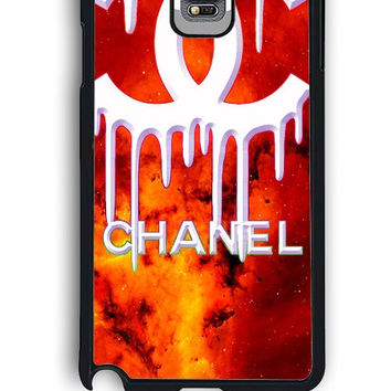 Samsung Galaxy Note 4 Case - Rubber (TPU) Cover with Coco Chanel Logo on Galaxy Design