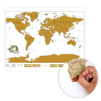Personalized Gold Scratch Map