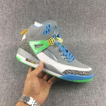 check out 1b609 4a6c7  Free Shipping Nike Air Jordan Spizike GS Easter Stealth Poison