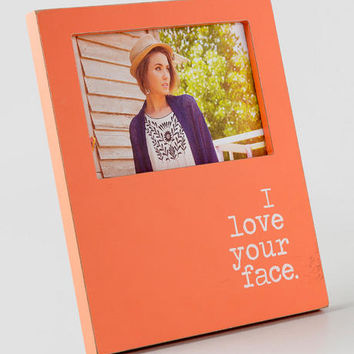 I Love Your Face Picture Frame