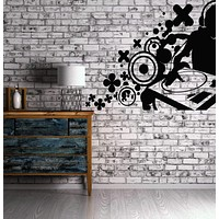 Vynyl Decal DJ House Pop Hip Hop Artist Rap Decor Wall Sticker Unique Gift (n023)