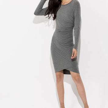 Women's Ruched Midi Dress |Meadow Dress | Kit and Ace