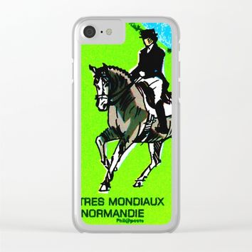 2014 FEI World Equestrian Games in Normandy DRESSAGE Clear iPhone Case by lanjee