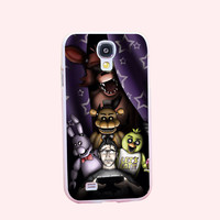 Five Nights At Freddys Pizzeria Hard White Cover Case for Galaxy S3 S3 mini S4 S4 Mini S5 S5 Mini S6 S6 edge