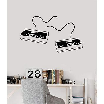 Vinyl Wall Decal Joysticks Video Game Gaming Art Gamer Mural Stickers Unique Gift (ig4655)