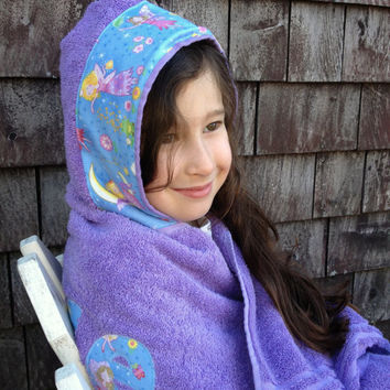 Best personalized gifts for toddler products on wanelo girls personalized hooded towel purple fairy faries pool bath towel toddler kids children easter gift negle Gallery