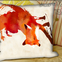 Vulpes Vulpes - Pillow Cover and Pillow Case.