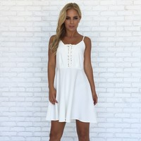 Special Effects Bustier Dress In White