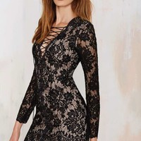 The Jetset Diaries Ruins Lace Dress - Black