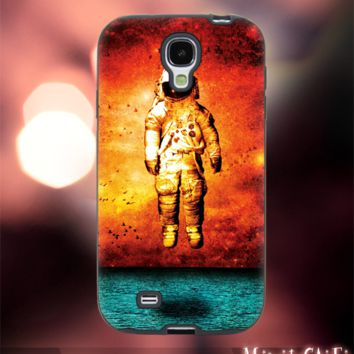 MC1111Y,13,brand new deja entendu,astronaut-Accessories case cellphone-Design for Samsung Galaxy S5 - Black case - Material Soft Rubber