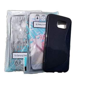 For Samsung Galaxy S6 Black and Clear Case 3 Pack