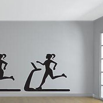 Wall Vinyl Sticker Fitness Exercise Running Track Path to a Slim Figure Unique Gift (n329)